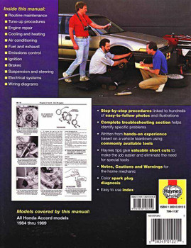Honda Accord 1984 - 1989 Workshop Manual