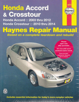 Honda Accord 2003 - 2014 Workshop Manual