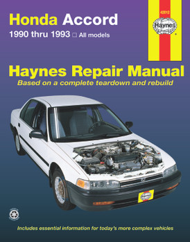 Honda Accord 1990 - 1993 Workshop Manual