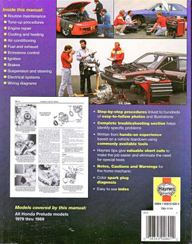 Honda Prelude 1979 - 1989 Workshop Manual