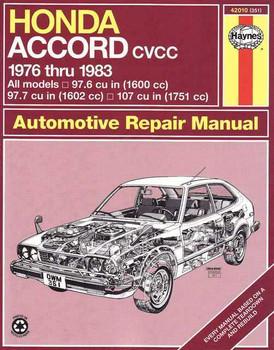 Honda Accord CVCC 1976 - 1983 Workshop Manual