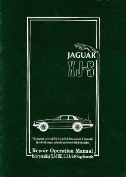 jaguar xj - s workshop manual