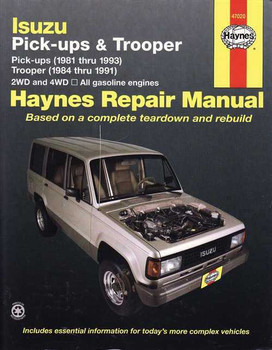 Holden Rodeo, Jackaroo (Isuzu Pick-up, Trooper) 1981 - 1991 Workshop Manual
