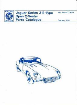 Jaguar Series 3 E-Type Open 2 - Seater Parts Catalogue
