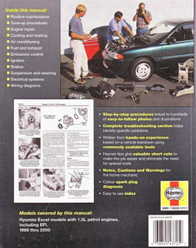 Hyundai Excel 1986 - 2000 Workshop Manual