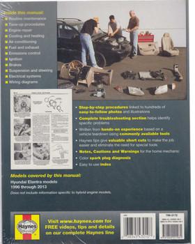 Hyundai Elantra (Lantra) 1996 - 2013 Workshop Manual