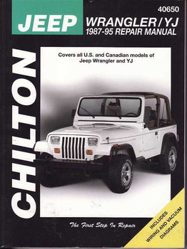 Jeep Wrangler, YJ 1987 - 1995 Workshop Manual