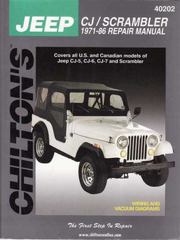 Jeep CJ / Scrambler 1971 - 1986 Workshop Manual
