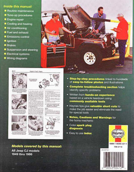Jeep CJ 1949 - 1986 Workshop Manual