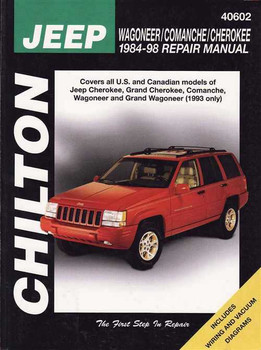 Jeep Wagoneer, Comanche, Cherokee 1984 - 1998 Workshop Manual