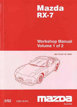 Mazda RX-7 Workshop Manual (2 Volumes)
