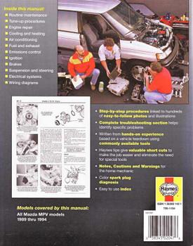 Mazda MPV 1989 - 1994 Workshop Manual