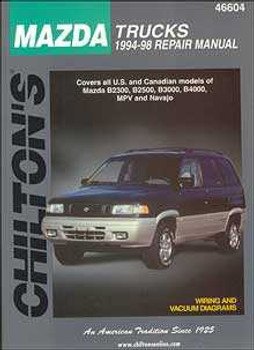 Mazda Trucks 1994 - 1998 Workshop Manual