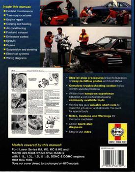 Ford Laser & Mazda 323 1981 - 1989 Workshop Manual