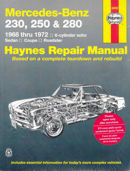 Mercedes - Benz 230, 250 and 280 1968 - 1972 Workshop Manual (9780856963469)