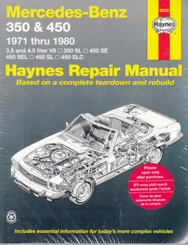 Mercedes - Benz 350 & 450 1971 - 1980 Workshop Manual - front