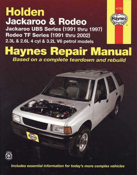 Holden Jackaroo & Rodeo 1991 - 2002 Workshop Manual