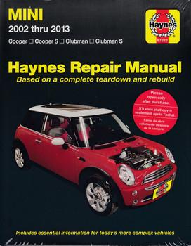 Mini Cooper, Cooper S, Clubman, Clubman S 2002 - 2013 Workshop Manual (9781620923160)