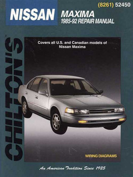 Nissan Maxima 1985 - 1992 Workshop Manual