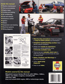 Mitsubishi Lancer CB & CC 1990 - 1996 Workshop Manual