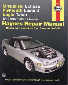 Mitsubishi Eclipse, Plymouth Laser, Eagle Talon 1990 - 1994 Workshop Manual