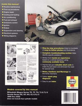 Mitsubishi Magna & Verada 1996 - 2002 Workshop Manual