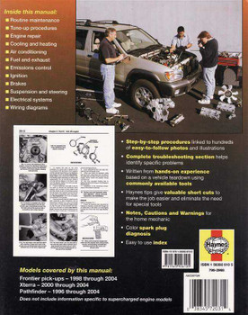 Nissan Pick-Ups 1998 - 2004 Workshop Manual