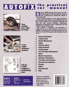Mitsubishi Magna, Verada: TR, TS, KR, KS Series V6 1991 - 1996 Workshop Manual