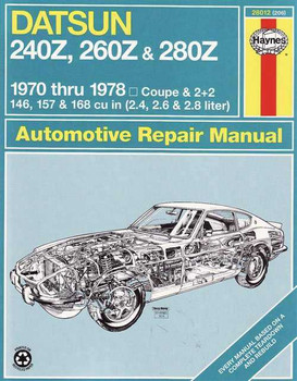 Nissan Datsun 240Z, 260Z & 280Z 1970 - 1978 Workshop Manual
