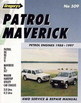 Nissan Patrol Ford Maverick Petrol Engines 1988 - 1997 Workshop Manual