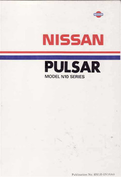 Nissan Pulsar Model N10 Series Workshop Manual
