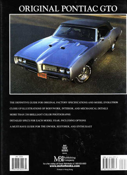 Original Pontiac GTO 1964 - 1974 The Restorer's Guide