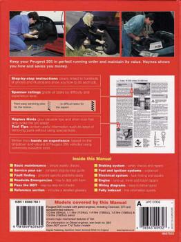 Peugeot 205 1983 - 1997 Workshop Manual