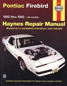 Pontiac Firebird 1982 - 1992 Workshop Manual