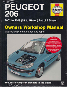 Peugeot 206 2002 - 2009 (Petrol & Diesel) Workshop Manual (9780857339089)
