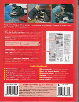 Peugeot 406 Workshop Manual Back Cover
