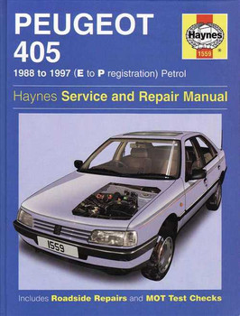 Peugeot 405 Petrol 1988 - 1997 Workshop Manual