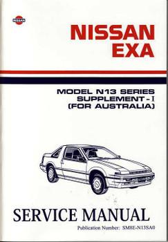 Nissan Exa Model N13 Series Supplement - I (Australia) Workshop Manual