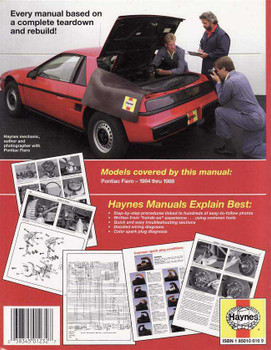 Pontiac Fiero 1984 - 1988 Workshop Manual