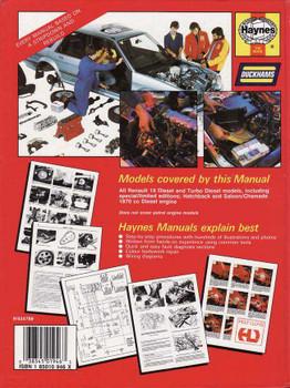 Renault 19 Diesel 1989 - 1995 Workshop Manual