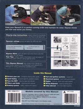 Renault 21 1986 - 1994 Workshop Manual