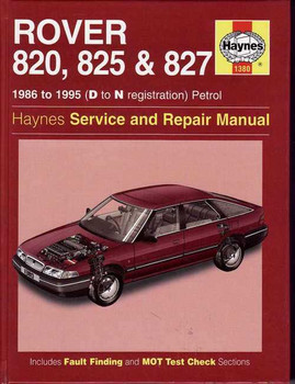 Rover 820, 825 & 827 1986 - 1995 Workshop Manual