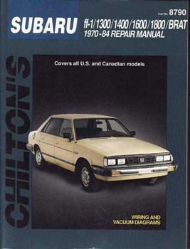 Subaru ff - 1, 1300, 1400, 1600, 1800, BRAT 1970 - 1984 Workshop Manual