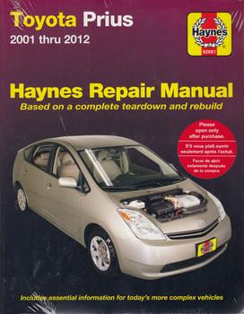 Toyota Prius 2001 - 2012 Workshop Manual (038345920813)