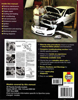 Toyota Corolla Ae Ae Ae Workshop Manual