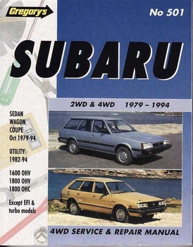 Subaru 2WD & 4WD 1979 - 1994 Workshop Manual