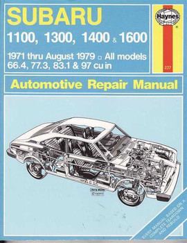Subaru 1100, 1300, 1400 & 1600 1971 - 1979 Workshop Manual