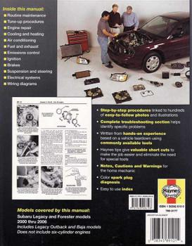 Subaru Liberty (Legacy) & Forester 2000 - 2006 Workshop Manual