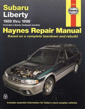 Subaru Liberty 1989 - 1998 Workshop Manual