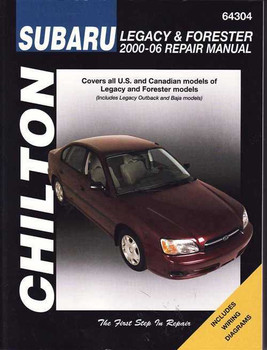 Subaru Liberty (Legacy) & Forester 2000 - 2006 Workshop Manual